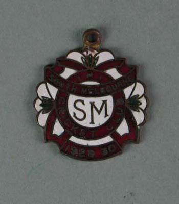 Membership medallion, South Melbourne Cricket Club - season 1929/30