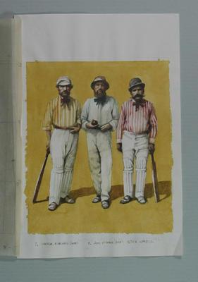Watercolour, G Marshall, J McKone & R Wardill, by artist Robert Ingpen 2001, MCC Tapestry nos.7-9; Artwork; M10278