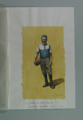 Watercolour, George Coulthard, by artist Robert Ingpen 2001, MCC Tapestry no. 10; Artwork; M10279