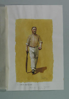 Watercolour, Charles Bannerman, by artist Robert Ingpen 2001, MCC Tapestry no. 11; Artwork; M10280