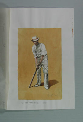 Watercolour, Lord Harris, by artist Robert Ingpen 2001, MCC Tapestry no. 12; Artwork; M10283