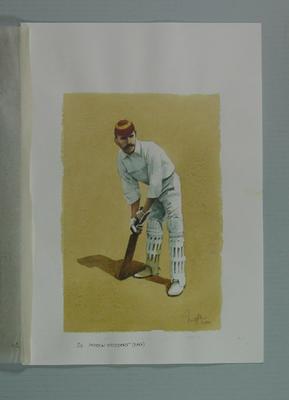 Watercolour, A E Stoddart, by artist Robert Ingpen 2001, MCC Tapestry no.27; Artwork; M10289
