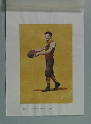 Watercolour, P G McShane, by artist Robert Ingpen 2001, MCC Tapestry no. 24; Artwork; M10291