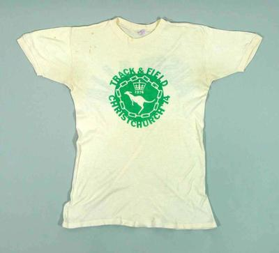 1974 British Commonwealth Games Australian team t-shirt, worn by Raelene Boyle