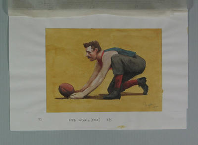 Watercolour, Fred McGinis, by artist Robert Ingpen 2001, MCC Tapestry no.35; Artwork; M10299