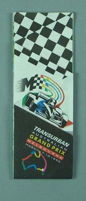 Map, 1996 Australian Formula 1 Grand Prix