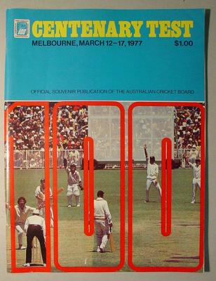 "Magazine, ""Centenary Test, Melbourne March 12-17, 1977"""