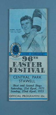 Programme, Stawell Easter Gift 1973; Documents and books; 1997.3304.11
