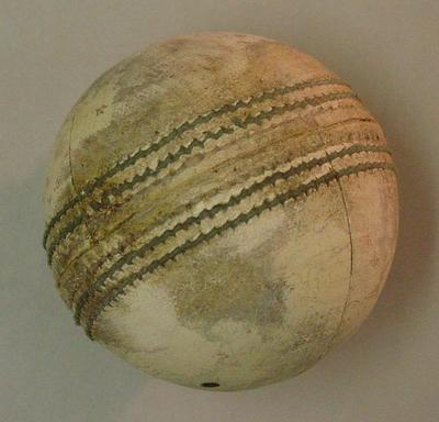 White leather cricket ball used in Benson & Hedges World Series Cup 1989-90