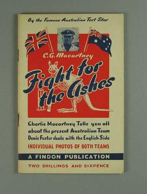 """Booklet, """"Fight for the Ashes"""""""