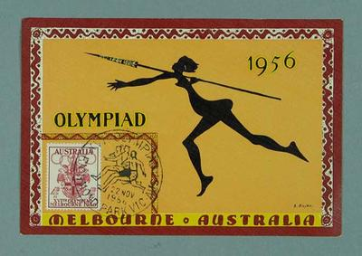 Postcard, 1956 Melbourne Olympic Games