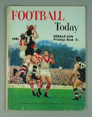 "Magazine, ""Football Today"" 1961"
