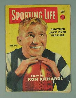 """Magazine, """"Sporting Life"""" May 1963; Documents and books; 2002.3848.69"""