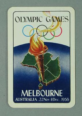 Playing card, 1956 Olympic Games design