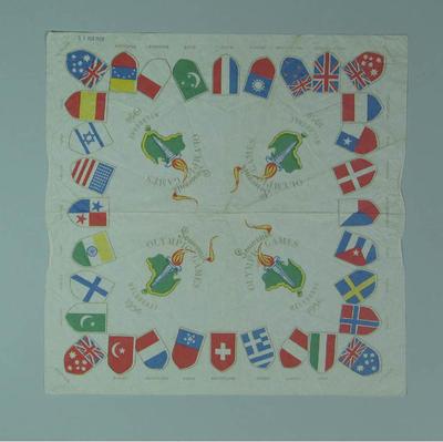 Paper napkin, 1956 Melbourne Olympic Games design