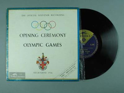 Vinyl record, 1956 Melbourne Olympic Games Opening Ceremony