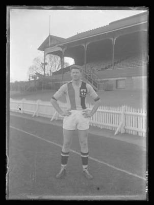 Glass negative, image of St Kilda Football Club player