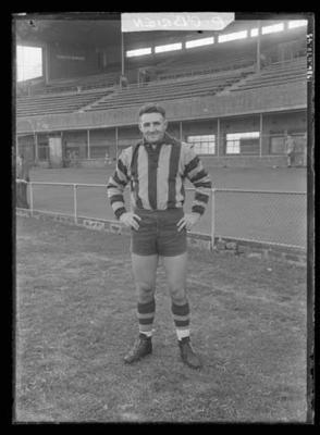 Glass negative, image of Hawthorn Football Club player - Phillip O'Brien