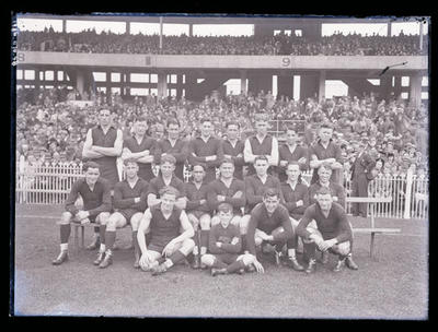 Glass negative, image of Fitzroy Football Club team c1940-41