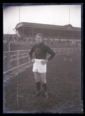 Glass negative, image of Allan Ruthven