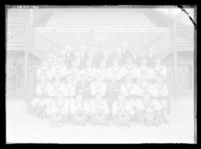 Glass negative, image of South Melbourne Football Club; Photography; 1986.1170.80