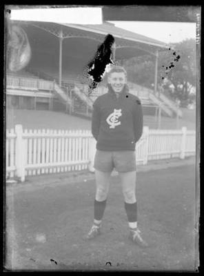 Glass negative, image of Carlton Football Club player - Graham Donaldson