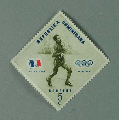 Postage stamp, 1956 Olympic Games - Dominican Republic