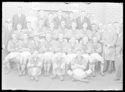 Glass negative, image of Dunlop football team - Saturday Morning Industrial League