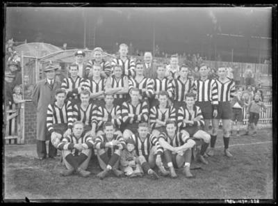 Glass negative, image of Collingwood Football Club team - 1948