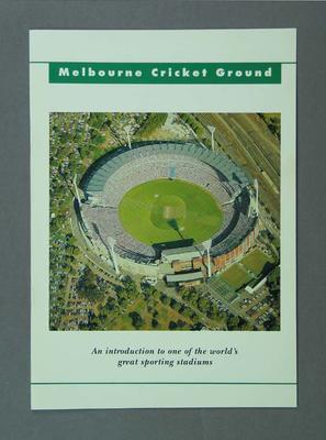Brochure, advertising Melbourne Cricket Ground c 1993