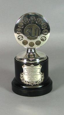 Trophy for Australian & New Zealand pole vault record, presented to Max Kroger in 1927