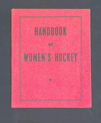"Booklet, ""Handbook of Women's Hockey"""