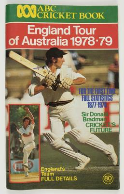"""Booklet, """"ABC Cricket Book, England Tour of Australia 1978-79""""; Documents and books; M10528"""