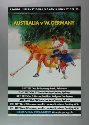 Poster - Esanda International Women's Hockey Series - Australia v W. Germany
