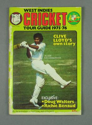 "Magazine, ""West Indies Cricket Tour Guide 1975-76"""