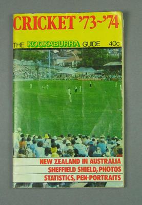 "Magazine, ""Cricket '73-'74, The Kookaburra Guide"""