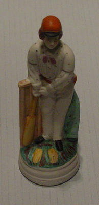 Bisque figurine of cricketer Julius Caesar