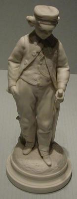 Figurine:  Boy cricketer with bat