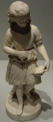 Figurine, known as 'Young England's Sister -  girl with croquet mallet and book