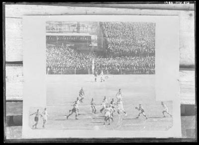 Glass negative, image of football game in progress; Photography; 1986.1170.512