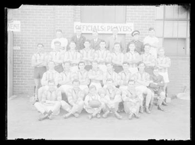 Glass negative, image of North Melbourne Football Club Thirds team - 1946 Premiers; Photography; 1986.1170.531