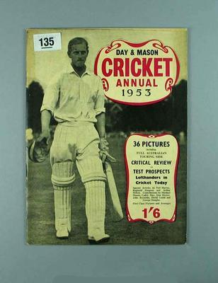 "Booklet, ""Day & Mason Cricket Annual 1953"""