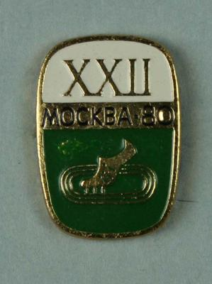 Badge, 1980 Olympic Games - Track & Field