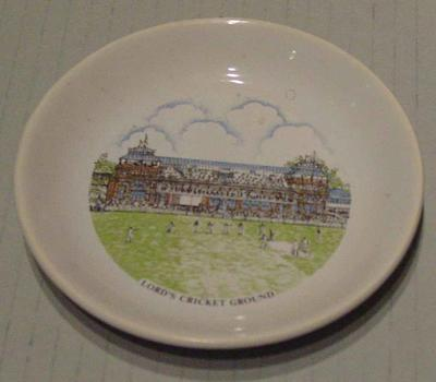 Ceramic plate inscribed ' Lord's Cricket Ground'