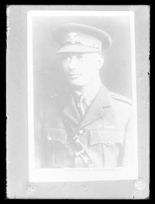 Glass negative, portrait image of the Duke of Gloucester