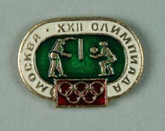 Badge, 1980 Olympic Games - Volleyball