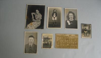 Seven photographs, various social history images