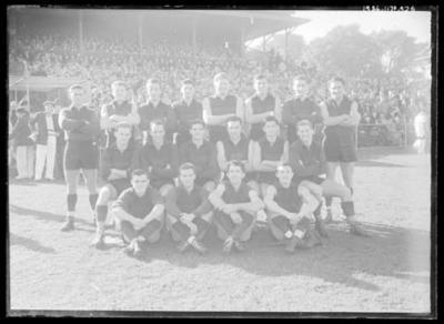 Glass negative, image of Fitzroy Football Club team