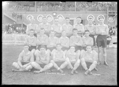Glass negative, image of Prahran Football Club team - 1934; Photography; 1986.1170.945