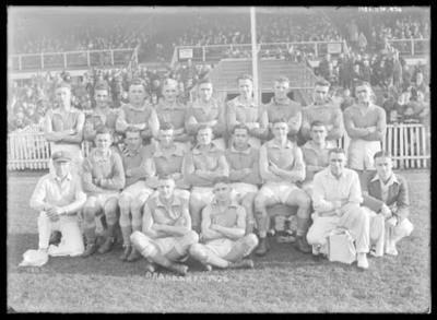 Glass negative, image of Prahran Football Club - 1936; Photography; 1986.1170.974